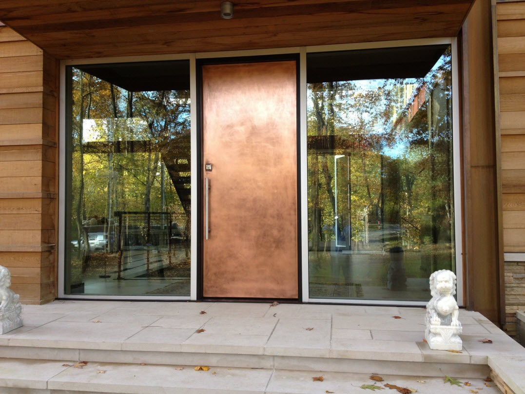 Cleaning bronze anodized metal technotes Exterior doors installation calgary