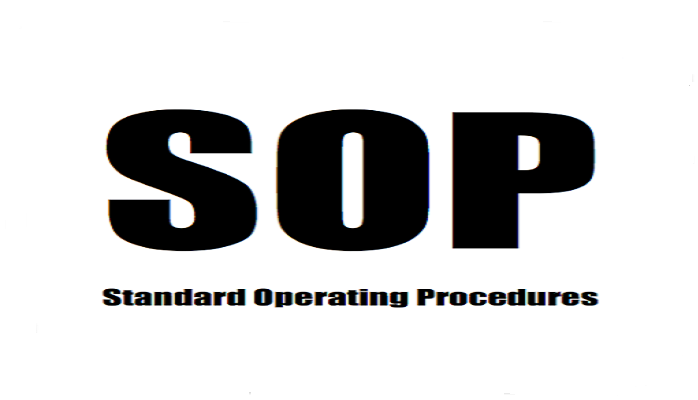Basics of standard operating procedures for cleaning Controlled Copy Stamp