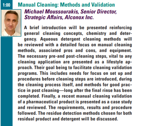 PharmaEd Cleaning Validation Abstract