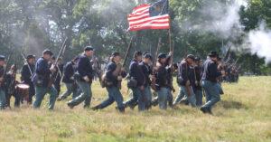 Civil War Battle Reenactment